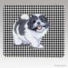 Shih Tzu Puppy Houndstooth Mouse Pad