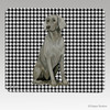 Sitting Weimaraner Houndstooth Mouse Pad