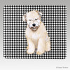 Wheaten  Puppy Houndstooth Mouse Pad