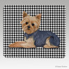 Puppy Clipped Yorkie Houndstooth Mouse Pads