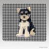 Yorkie Puppy Houndstooth Mouse Pad