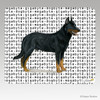Beauceron Collie Megabyte Mouse Pad