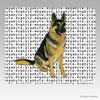 Sitting German Shepherd Megabyte Mouse Pads