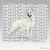 White German Shepherd Megabyte Mouse Pad
