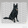 Black German Shepherd Megabyte Mouse Pad