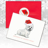 West Highland Terrier, Sitting Christmas Cards
