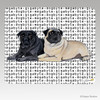 Pair of Pugs Megabyte Mouse Pads