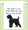 Black Russian Terrier Flour Sack Kitchen Towel