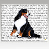 Bernese Mountain Dog Message Cutting Board - Rectangular