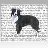 Border Collie Message Cutting Board - Rectangular