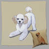 Poodle Puppy Throw Pillow