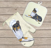 Smooth Collie Oven Mitt and Pot Holder