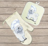 Coton du Tulear Oven Mitt and Pot Holder Set