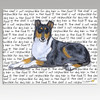 Smooth Collie Message Cutting Board - Rectangular