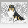 Tri Color Collie Cutting Board