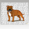 English Staffordshire Terrier Message Cutting Board - Rectangular
