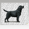 Black Lab Standing Cutting Board