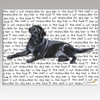 Black Lab Lying Cutting Board