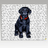 Black Lab Puppy Cutting Board