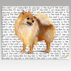 Pomeranian Message Cutting Board - Rectangular