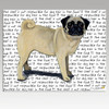 Pug Message Cutting Board - Rectangular