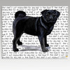 Black Pug Cutting Board