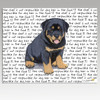 Rottweiler Puppy Cutting Board
