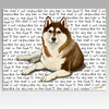 Brown & White Siberian Husky Cutting Board