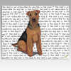Welsh Terrier Message Cutting Board - Rectangle