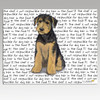 Airedale Puppy Message Cutting Board