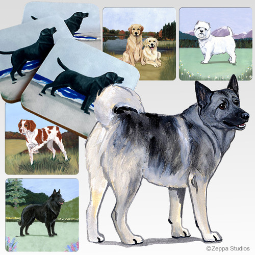 Norwegian Elkhound Scenic Coasters