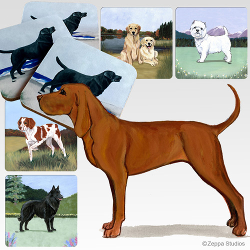 Redbone Coonhound Scenic Coasters