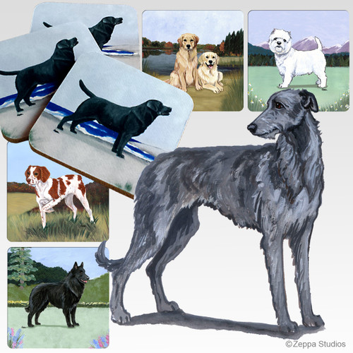 Scottish Deerhound Scenic Coasters