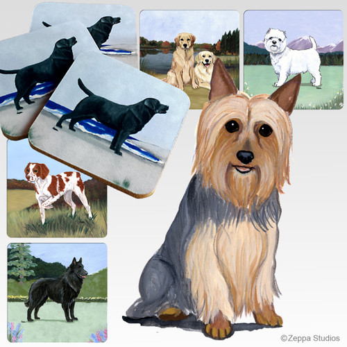 Silky Terrier Scenic Coasters