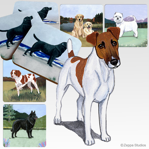 Smooth Fox Terrier Scenic Coasters