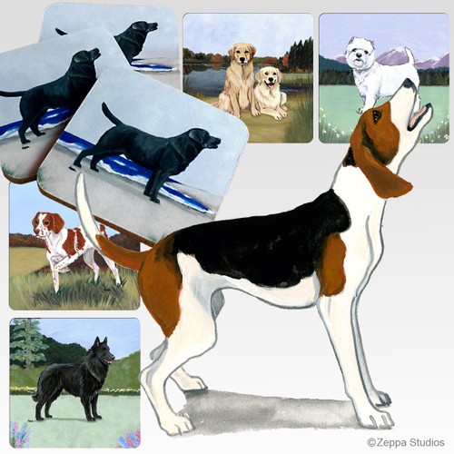 Treeing Walker Coonhound Scenic Coasters