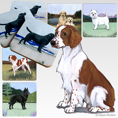 Welsh Springer Spaniel Scenic Coasters