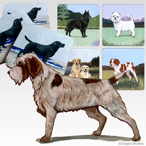 Wirehaired Pointing Griffon Scenic Coasters