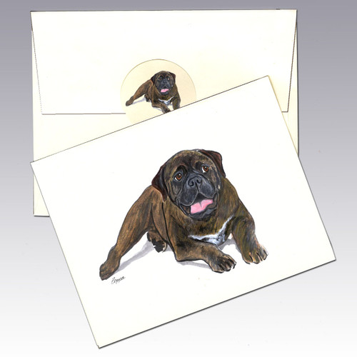 Bull Mastiff Note Cards