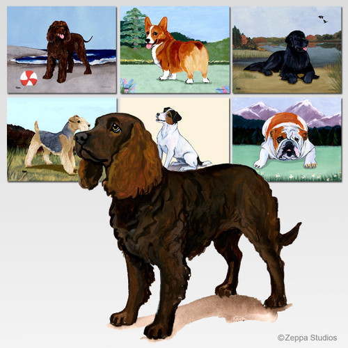 American Water Spaniel Scenic Cutting Board