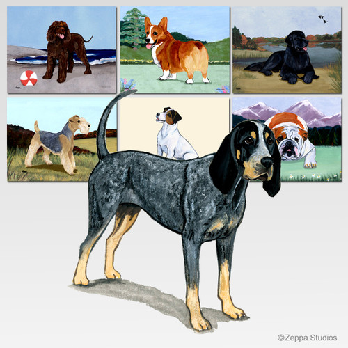 Bluetick Coonhound Scenic Cutting Board - Rectangular