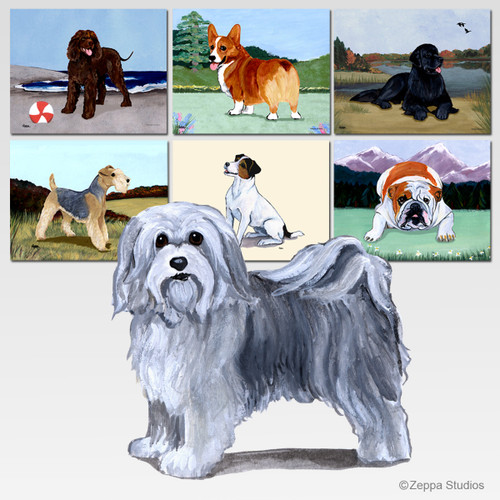 Havanese Scenic Cutting Board