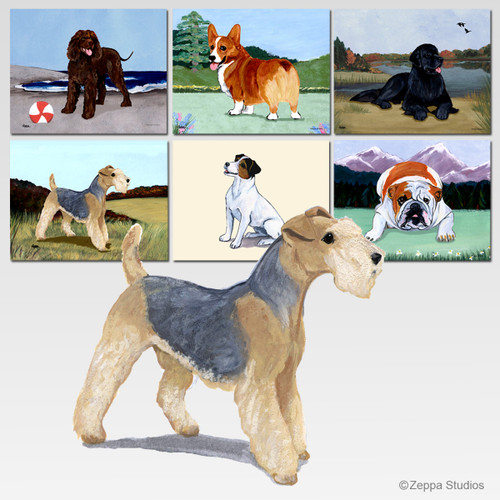 Lakeland Terrier Scenic Cutting Board - Rectangular