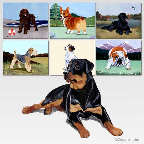 Rottweiler Scenic Cutting Board