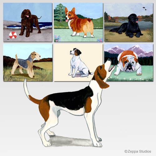 Treeing Walker Coonhound Scenic Cutting Board - Rectangle