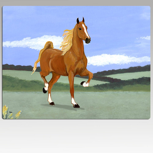 Saddlebred Horse Rectangular Scenic Cutting Board