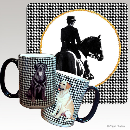 Dressage Houndzstooth Mug
