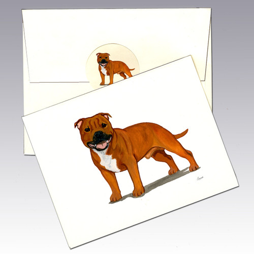 English Staffordshire Terrier Note Cards