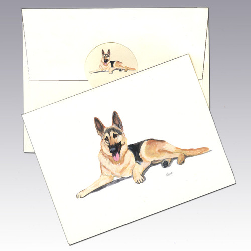 German Shepherd Note Cards