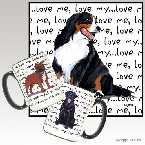 Bernese Mountain Dog Love Me Mug